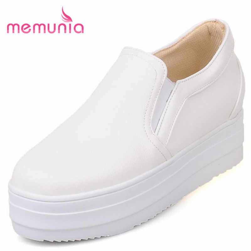 MEMUNIA 2018 new arrive flat platform solid slip-on women shoes fashion  spring autumn flats d34329b2f10c