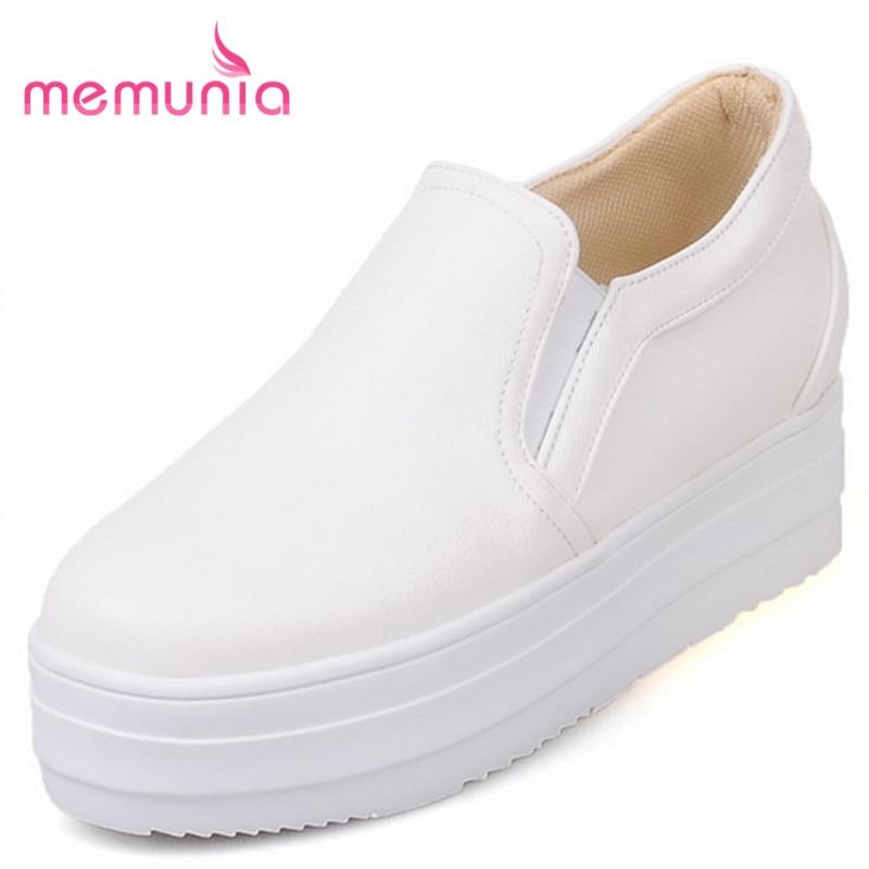 MEMUNIA 2018 new arrive flat platform solid slip on women shoes fashion spring autumn flats shoes comfortable