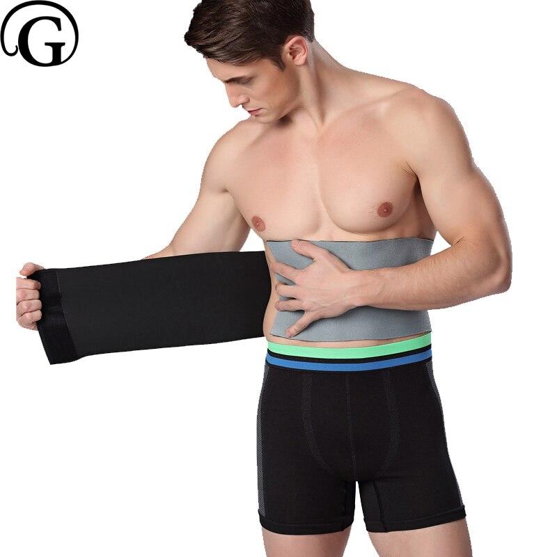 PRAYGER Neoprene Sweat Waist Cinchers Sauna Slimming Belt Men Control Tummy Shaper Band Big Belly Body Girdle