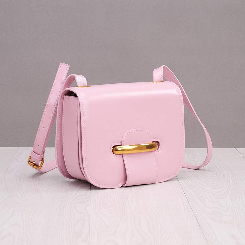 2018 Pink Flap Crossbody Bags For Women Split Leather Lady Designer Handbags High Quality Ring Hasp Simpleness Shoulder Bags