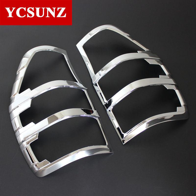 Chrome Car Accessories Tail Lights Covers Lamp Trim For Ford Ranger T6 T7 T8 2012-2019