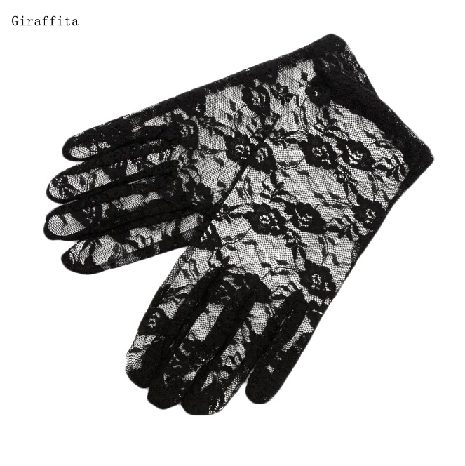 High Quality Lace Hollow-out Gloves Delicate Lace Jacquard Pattern Lace Gloves Sun Protection Accessories Ladies Mittens Apparel Accessories