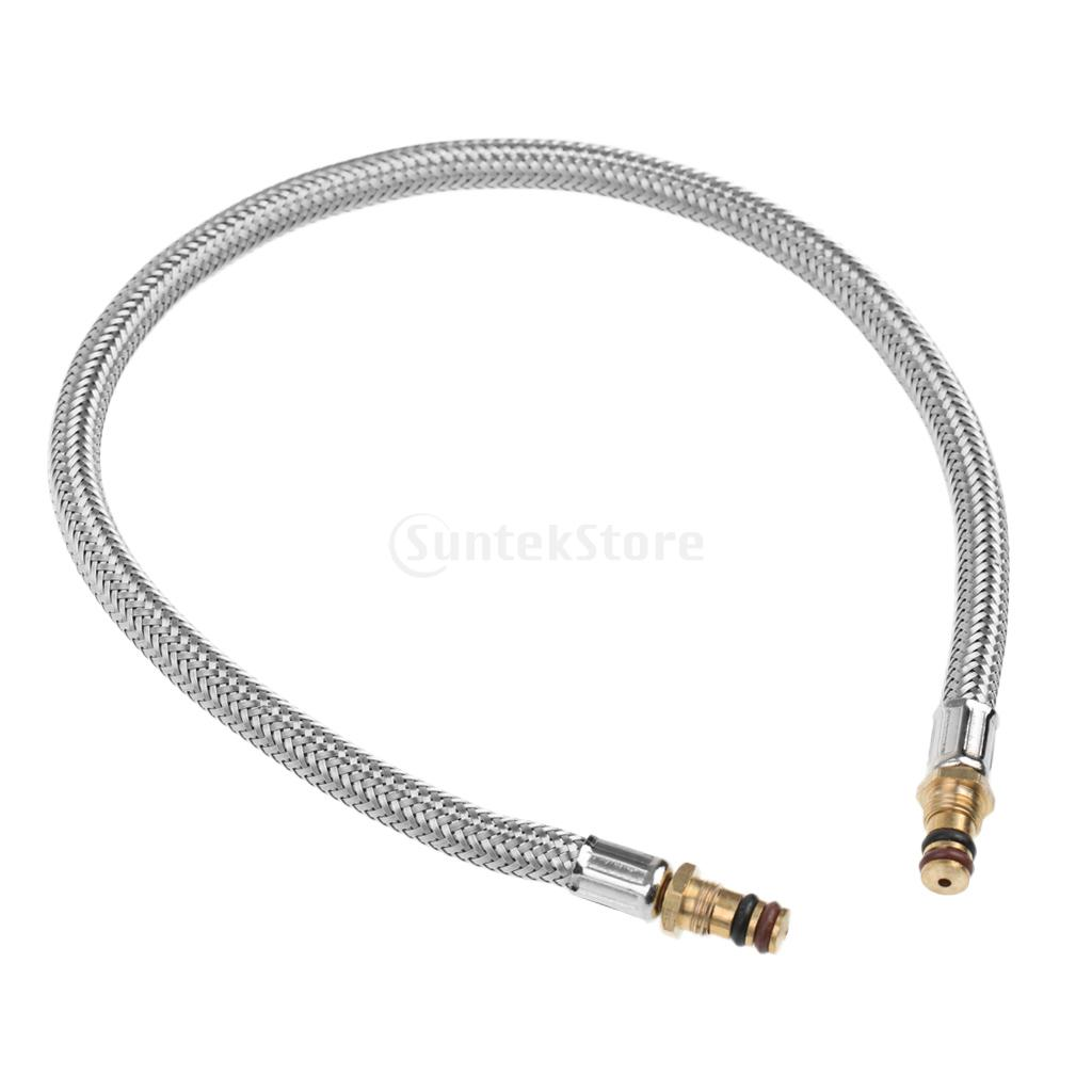 30cm 50cm Durable Stainless Steel Gas Tank Head Adapter Hose Connector Regulator For Outdoor