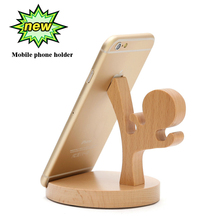 Acoki Universal Portable Wooden Style Cellphone Holder Stand Bracket For iPhone Samsung XiaoMi Huawei Gift Durable