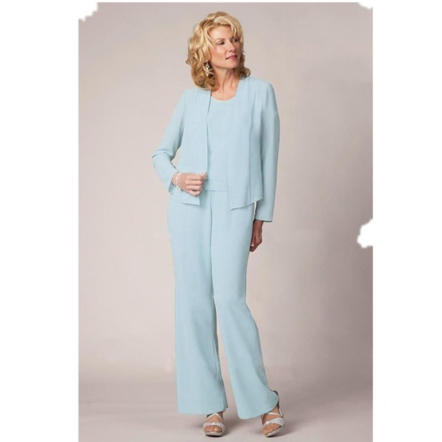 Abiye Gece Elbisesi Anne Gelin With Jacket Turquoise Blue Wedding Guest Suits Floor Length Mother Of