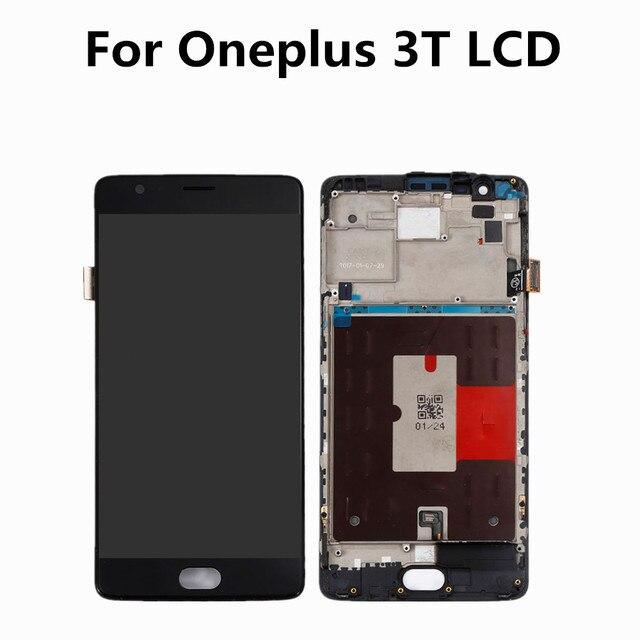 """Oneplus 3 T ЖК-дисплей Дисплей Сенсорный экран 100% новый FHD 5,5 """"планшета сборки замена аксессуар для One plus A3010 A3000 3 три"""