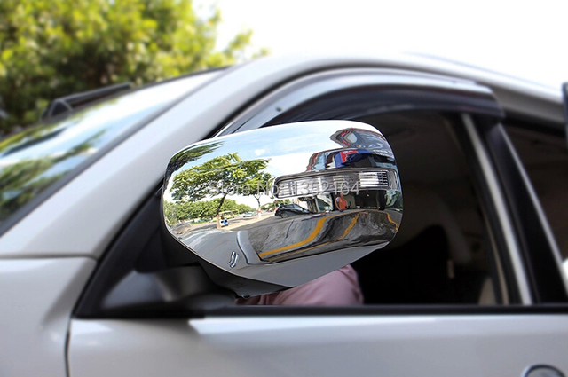 Rear view mirror cover,auto mirror cap bezel for Mitsubishi Pajero sport 2014 2015 ,ABS chrome,2pcs/lot,free shipping