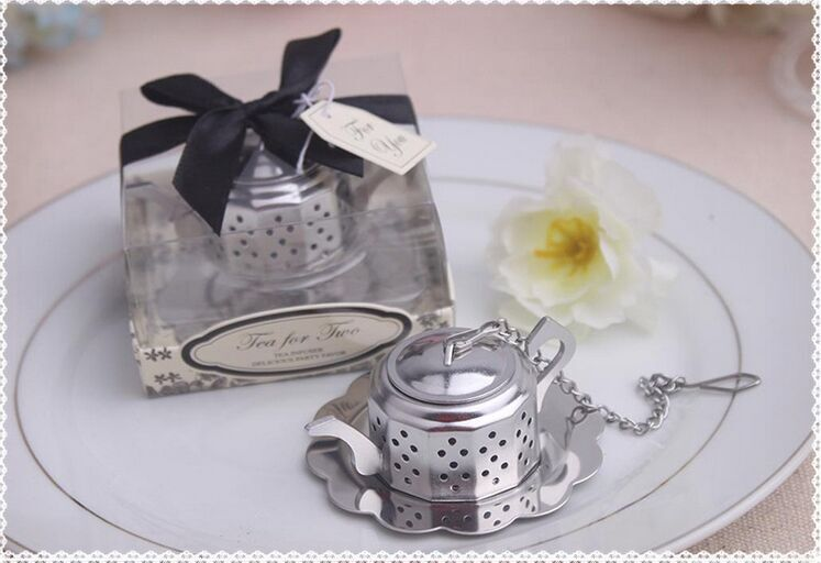 wedding favor teapot tea infuser bridal shower favor gifts guest keepsake bomboniere birthday presents giveaways