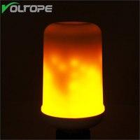 Пламя мерцающего кукуруза светодиодные лампы AC85V-265V E27 E26 моделирование горение светодиодные лампы Открытый Декоративные праздник огней