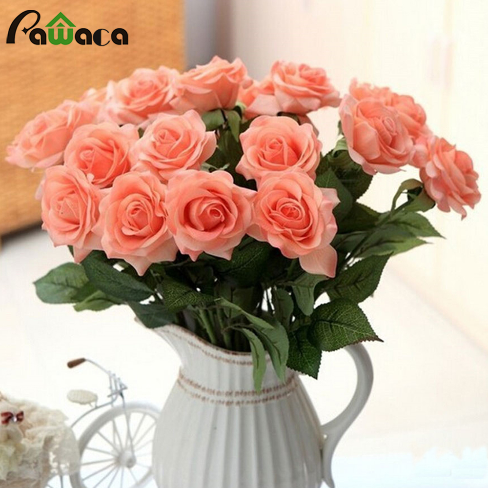 alta calidad real touch flores artificiales rosas decorativos gran florecimiento de flores ramos de novia para