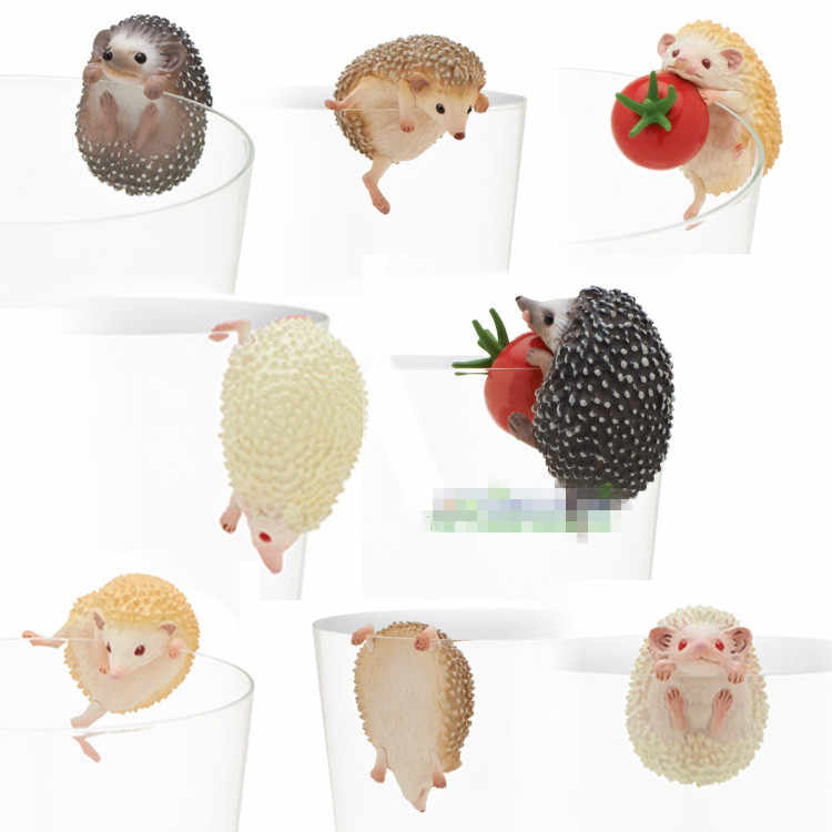 Japan original capsule toys cute pets 8 sets mini Hedgehog PUTITTO glass gashapon figures desktop Kids Toy