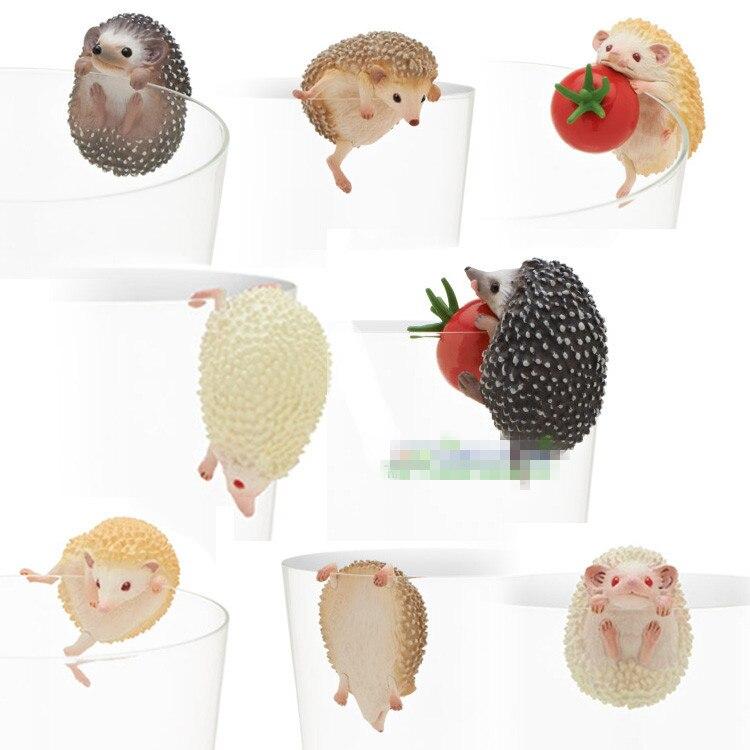 Japan original capsule toys cute pets 8 sets mini Hedgehog PUTITTO glass gashapon figures desktop Kids Toy Car phone