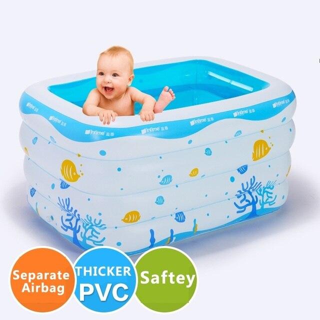 Inflatable Baby Swimming Pool Preschool Child Large Bath Tub ...