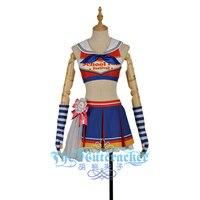 LoveLive!SunShine!! Kurosawa Dia Cosplay Costume Aqours Cheering Cheer Team Cheerleaders Awakening Custom Dress Gloves