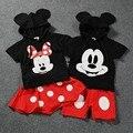 Cartoon Minnie Mickey Hooded Shirt + Pants Skirt Kids Clothing Sets Cute Ski Suit Conjunto Infantil Menina Clothes Suits KD269