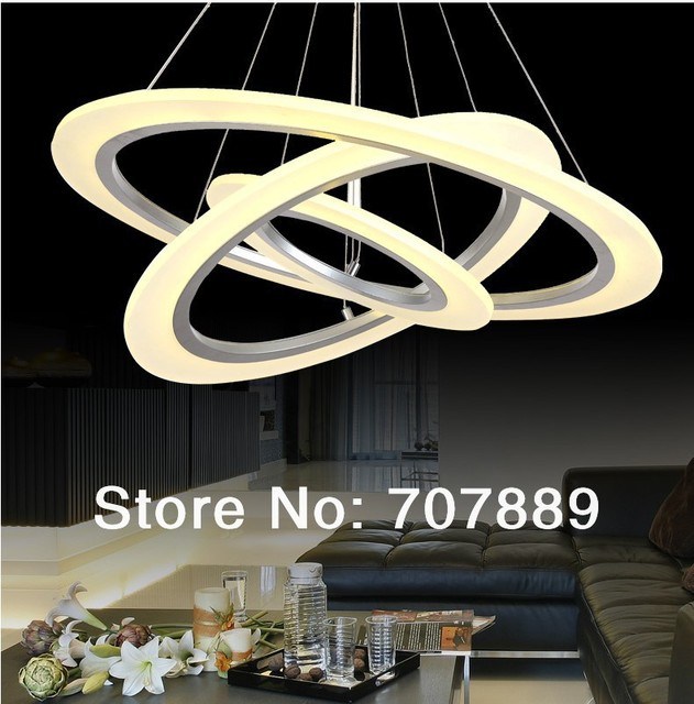 New LED Chandelier Modern Living Room Restaurant Acrylic Decorative Pendant Lamp Hanging Lights Free Shipping