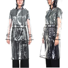 EVA Transparent Raincoat Long Raincoat for Women Waterproof Jacket Windbreaker Rain Poncho With Belt Outdoors capa de lluvia