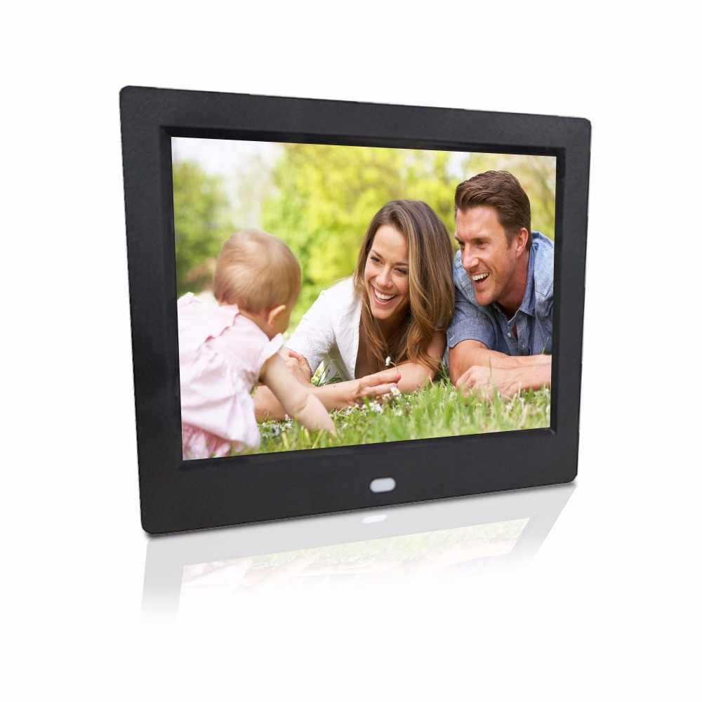 8 inch high resolution support 720P loop playback auto play picture or video digital photo frame advertising machine