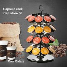 Revolving Rotating 36 Capsule Coffee Pod Holder
