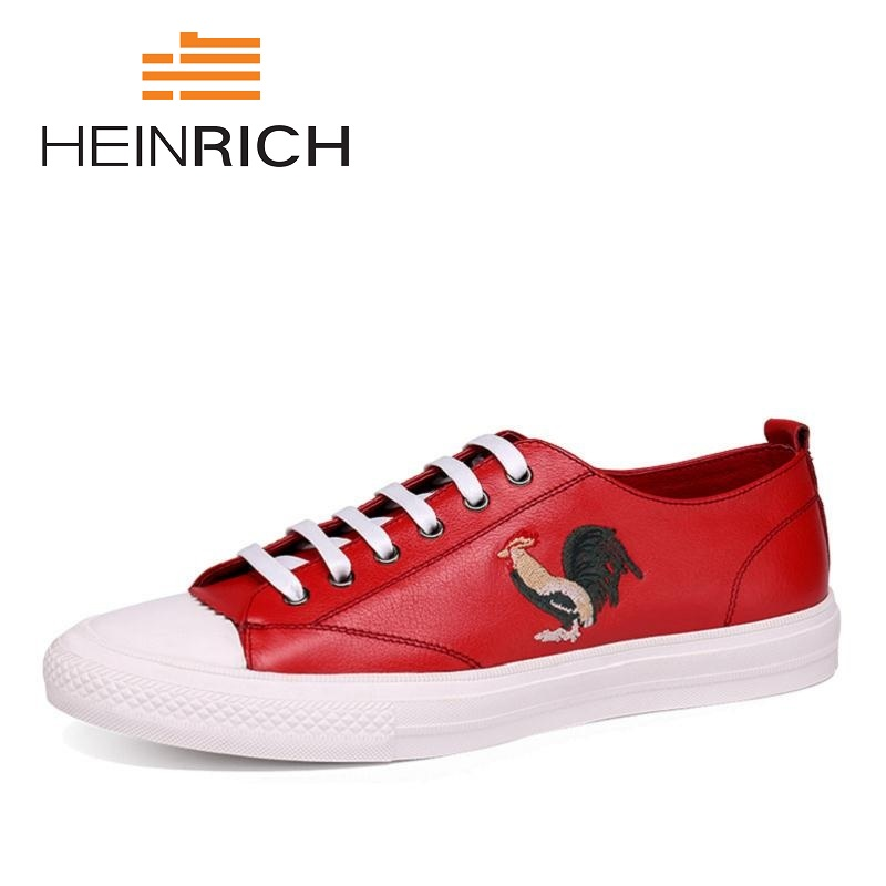 HEINRICH New Arrivals Mens Shoes Breathable Lace-Up Shoes Men's Gentleman Leather Leisure Shoes Zapatos Hombre Casual Cuero spring ultra light mens shoes men casual leather mans footwear zapatos hombre presto lace up breathable air chaussure homme 95