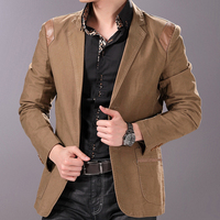 2013 Spring Men S High Quality Business Casual Black Suit Male Fashion Slim Blazer Free Shipping