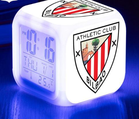 La Liga Football/soccer LED Alarm Clock Spain Football Team Clocks reloj despertador Digital Watch 7 color Flash reveil Toys
