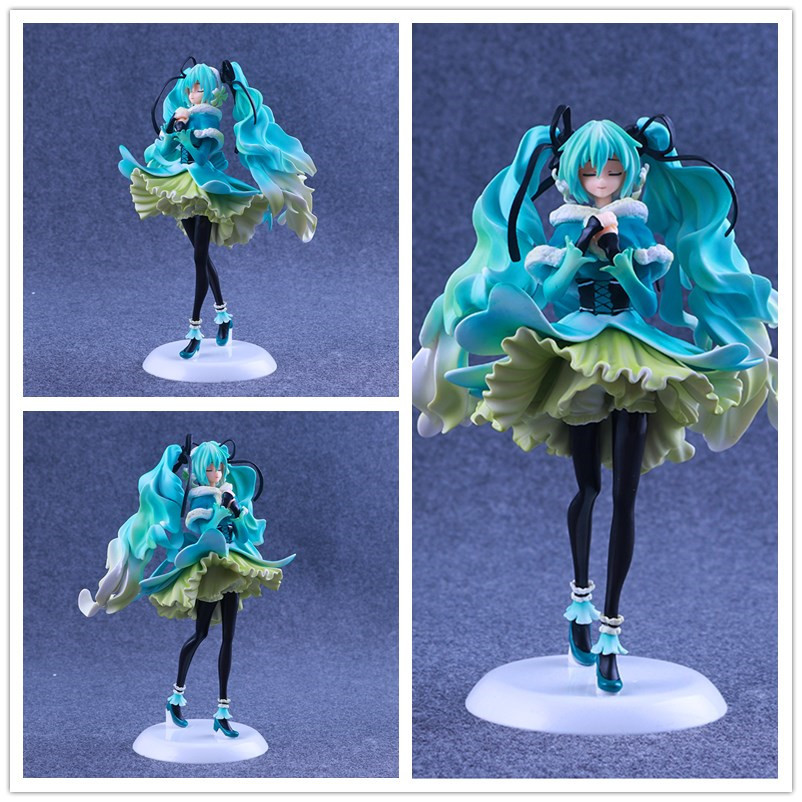 Sell Like Hot Cakes 25CM PVC Cerastium Tomentosum Hatsune Miku Action Figure Furnishing Articles Model Holiday Gifts Ornament brilliant потолочная люстра brilliant sandra g85031 06