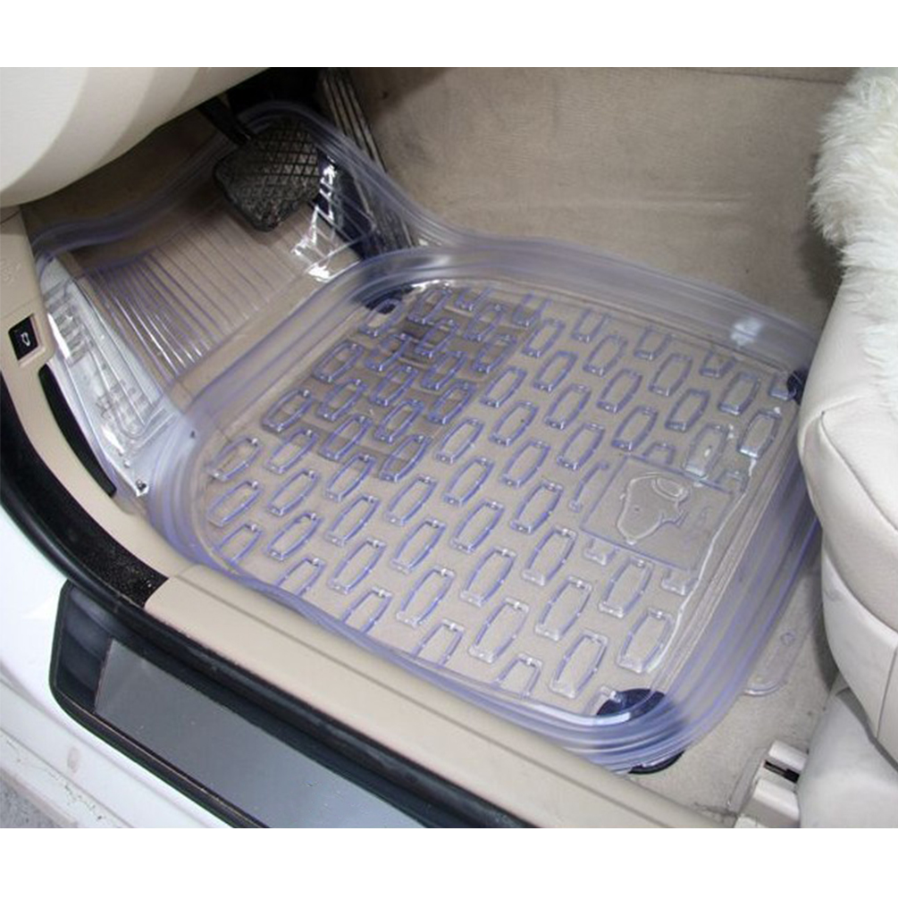 CARGOOL 5pcs Car Floor Mat Set Universal Anti-Slip Car Floor Pad Waterproof Trunk Liner Transparent earth wind fire earth wind fire earth wind fire