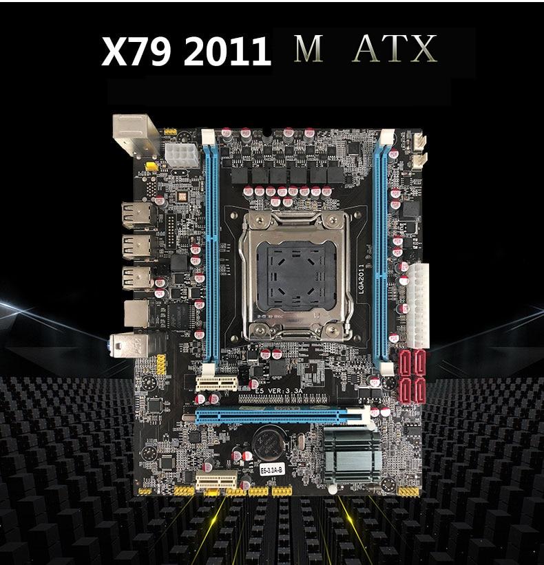 New Desktop Motherboard X79D E5 VER:3.3A X79 LGA 2011 DDR3 mainboard All-Solid M ATX new motherboard x79 support e5 2660 2670 ecc ram 4 ram slots 64g lga 2011 ddr3 atx mainboard desktop motherboard