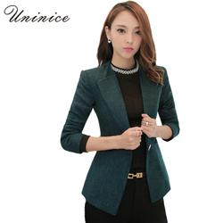 Blazers women jackets 2017 blazer women blazer short coat casual one button outerwear linen plus size.jpg 250x250