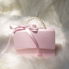 50pcs/lots gift box pink gift bags with handles candy box favor boxes baby shower boy Girls Party Set Event Party Supplies marvis black box gift set