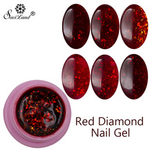 Saviland 8ml Hot Sales 3D Red Diamond Hybrid Glitter UV LED Nail Gel Nail Art Manicure