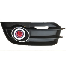 eOsuns Innovative COB angel eye led daytime running light DRL + halo Fog Light + Projector Lens for Audi A1