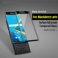 Tempered Glass Screen Protector For Blackberry Priv Latest New Film 3D Full Covered Black Gold Clear