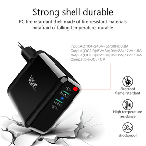Image 2 - VVKing USB Fast Charger 36W Dual Quick Charge 3.0  For iPhone Samsung Galaxy Xiaomi Huawei LG QC3.0 Charging EU/US Phone Charger