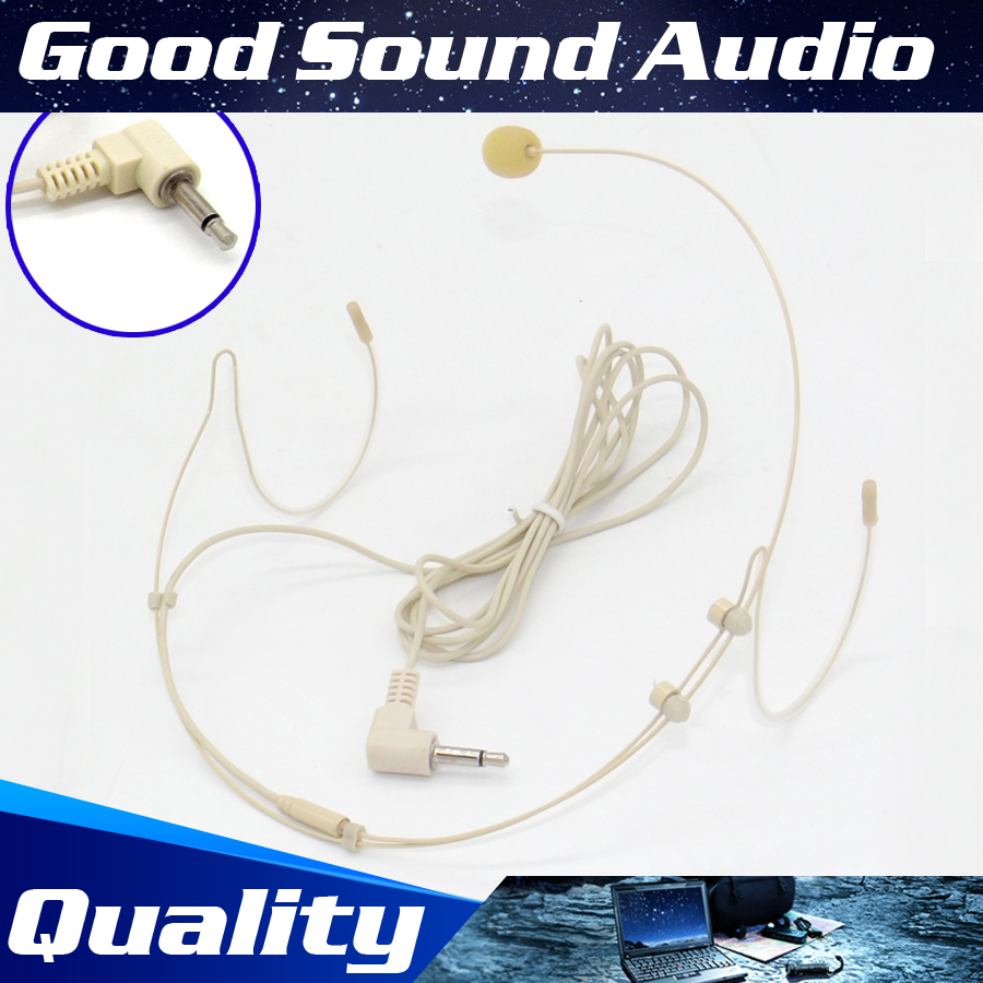 3.5 mm Earhook Headworn Mic Headset Microphone For Wireless Speaker Teaching Megaphone Loudspeaker Meeting Interview Tour Guide