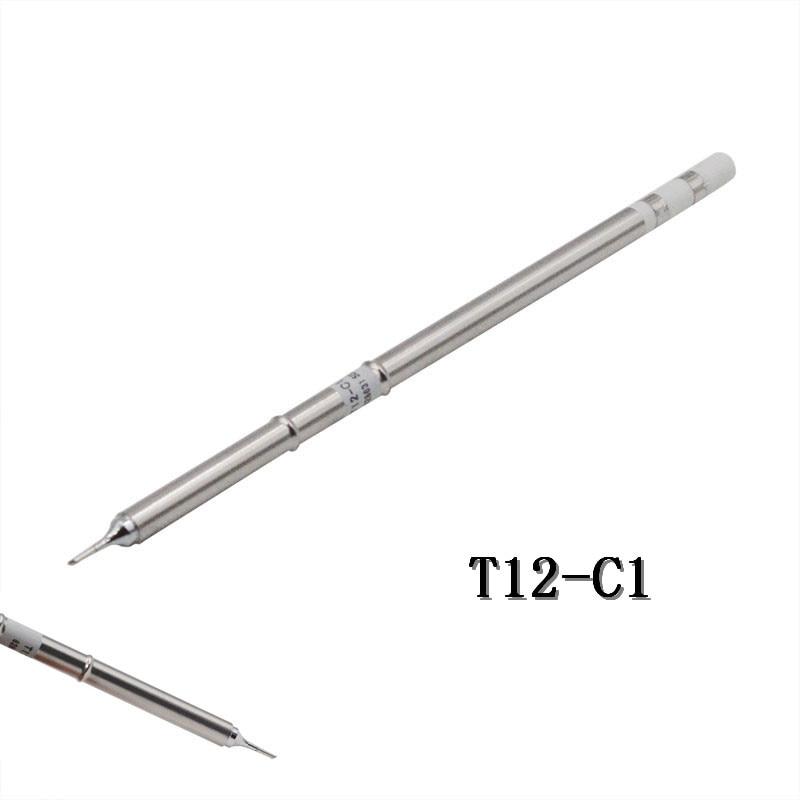 1PC T12 C1 Solder Iron Tips for Hakko T12 Handle LED
