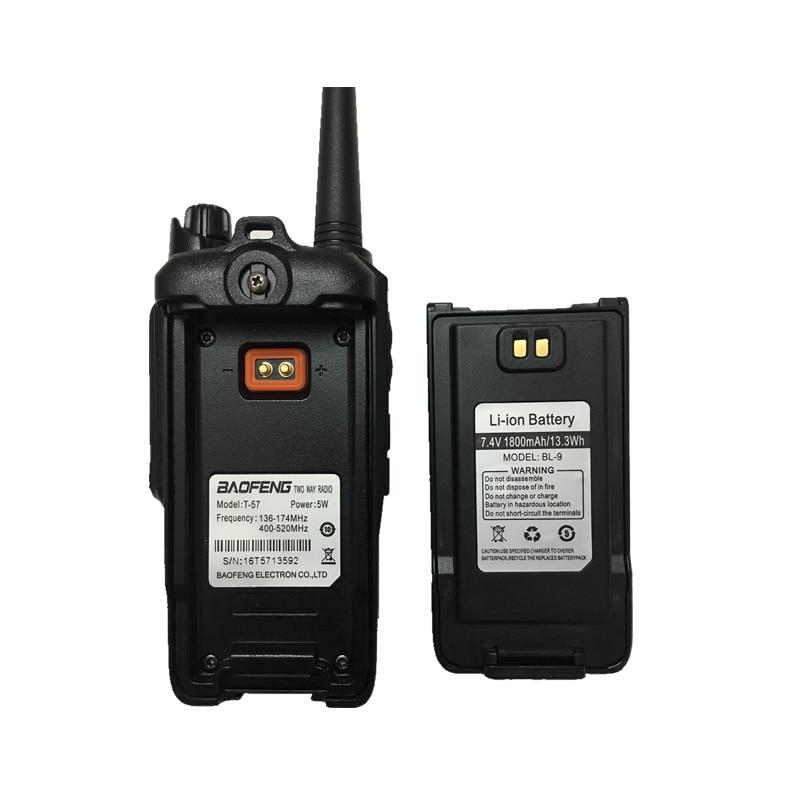 """טלוויזיות 25 29 Baofeng T-57 5W משדר VHF Waterproof מכשיר קשר CB רדיו תחנת ניידת כף יד 10 ק""""מ ארוך הטווח UV-9R שתי דרך רדיו (5)"""