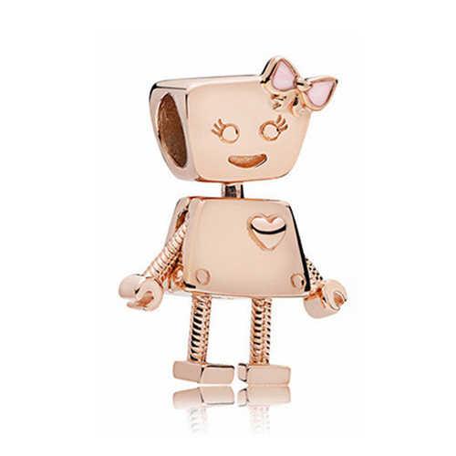 פאנק שבטי תכשיטי כסף צבע פיל אצטרובל כוכבים רובוט סגסוגת חרוזים Fit פנדורה צמידי קסמי נשים בציר DIY