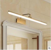 L светодиодный светильник с золотым зеркалом для ванной комнаты, влагостойкий светильник для ванной комнаты, туалетный столик, ретро полоск