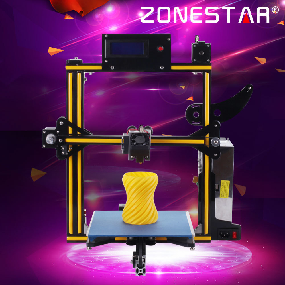 Zonestar nouvelle imprimante 3D imprimante 3D kit de bricolage imprimante 3d impresora carte SD I3 double ou mixte couleur plein métal cadre en aluminium