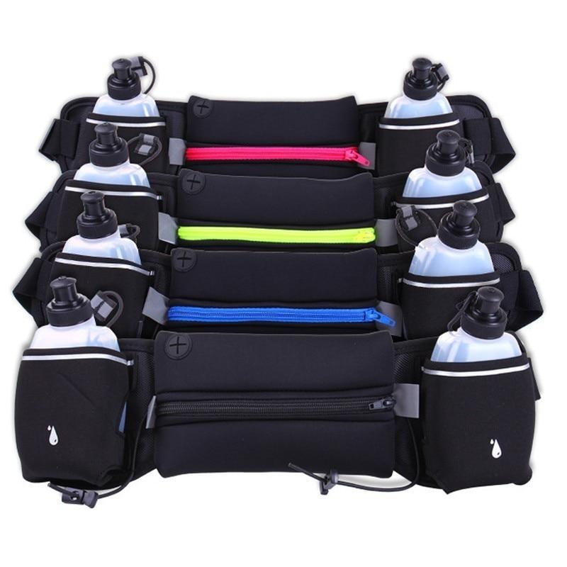Sacs de taille en cours d'exécution en plein air pour homme et femme Jogging taille Pack hydratation ceinture sac bouteille d'eau Fitness Gym léger Sport portefeuille