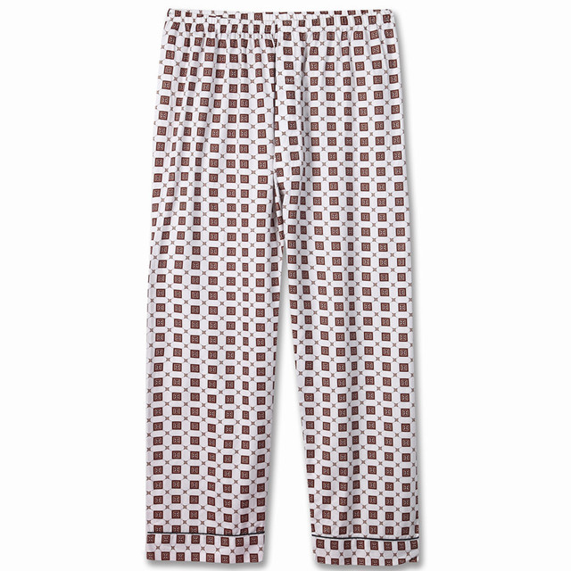 Male pajama pants spring and autumn summer 100% cotton thin quinquagenarian casual male 100% lounge pants cotton trousers loose