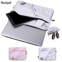 Besegad 대리석 스타일 운반 스토리지 보호 노트북 슬리브 커버 스킨 파우치 가방 케이스 맥북 맥 도서 프로 에어 13.3 인치