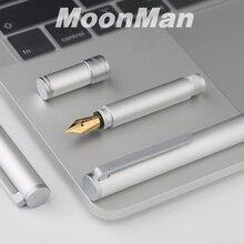 חדש מונמן N1 Creative מיני אלומיניום סגסוגת פלדת כסף מזרקת עט כיס קצר עט נוסף בסדר/בסדר 0.38/ 0.5mm אופנה מתנה