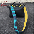 Хорошее качество волна шить цвет мода pu кожа дамы сумочку плечо ремень сумки аксессуары мешок части 3 цветов