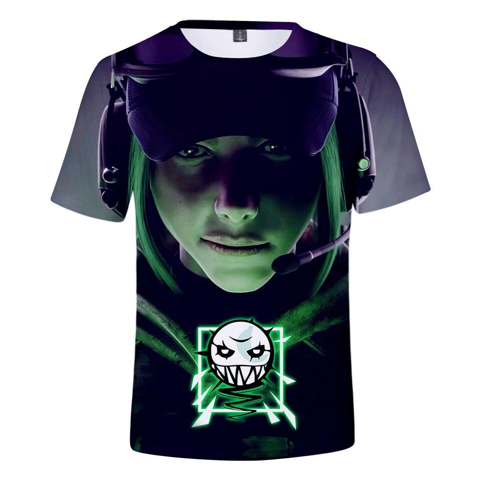 3D Arc-En-Six Siège T-Shirt ou Gilet de Jeu Tee Mens Top Vidéo jeux Vêtements R6 F Imprimé Hommes T-shirt Vêtements Haut T Plus taille
