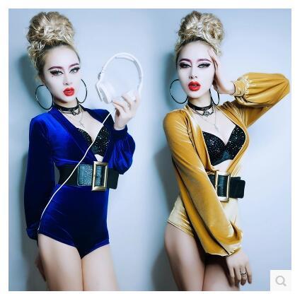 Боди женские Новинка DS сексуальная одежда Глубокий V Ведущий Воротник Танцы ночной клуб бар DJ Сценические костюмы для певцов Боди женские