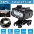 Encher de Luz à prova d' água 50 M Mergulho Para GoPro Hero 5 SJCAM SJ4000 Gitup Git2