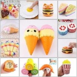 TOFOCO 11 Тип торт/мороженое/Еда мягкими Jumbo замедлить рост Хлюпать игрушки Kawaii Squishies антистресс смешно Squeeze игрушки для детей squishies